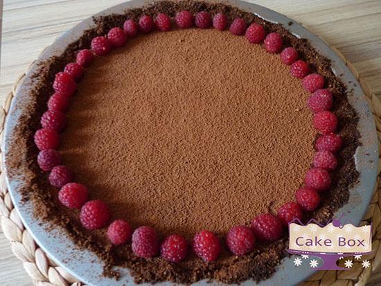Shokoladov tart s malini-1